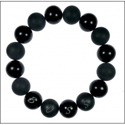 Dedykowana męska czarna bransoleta DBR01