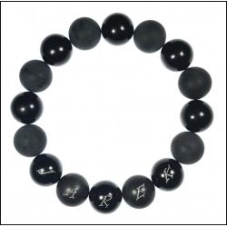Dedykowana męska czarna bransoleta DBR03