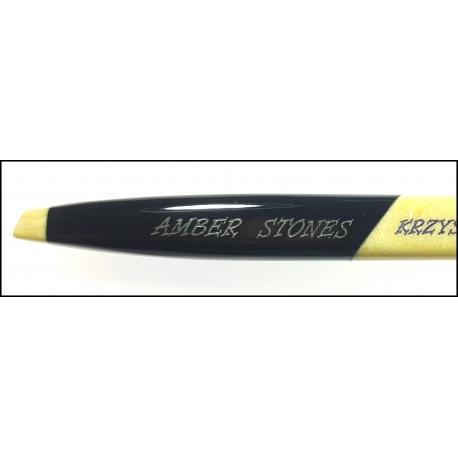 Dedykowany długopis bursztynowy DB02